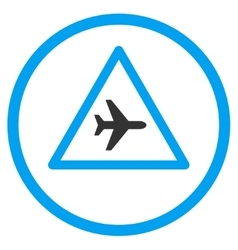 Airplane Danger Circled Icon vector image