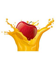 apple juice splash vector image