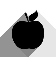 apple sign black icon with vector image