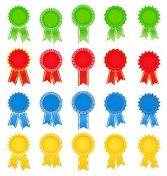 Award ribbons vector
