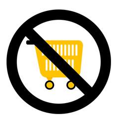 ban shopping symbol vector image