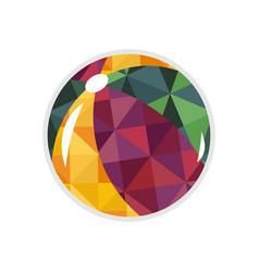 Beach ball isolated icon vector