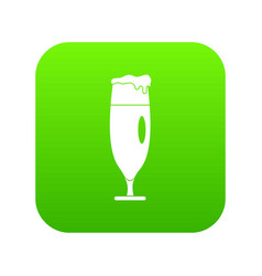 beer glass icon green vector image