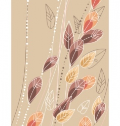 beige background with contour leaves vector image