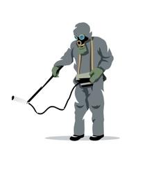 Bio hazard protection cartoon vector