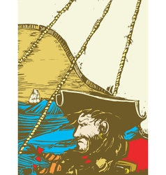 Blackbeard the Pirate vector image