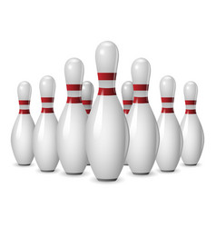 Bowling competition icon realistic style vector