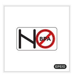 Bpa-free icon bisphenol-a can be used for labels vector