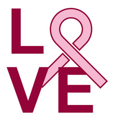 Breast cancer love vector
