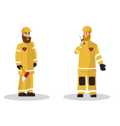 cartoon fire extinguishing vector image