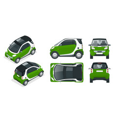 compact smart car small compact hybrid vector image