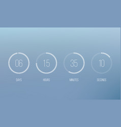 countdown clock counter digital timer vector image