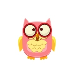 Cross-eyed Pink Owl vector