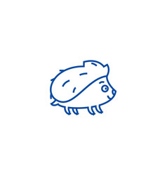 cute hedgehong line icon concept cute hedgehong vector image