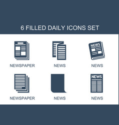 Daily icons vector