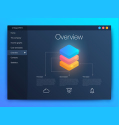 dashboard infographic template with modern ui vector image