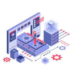 Datacenter isometric vector