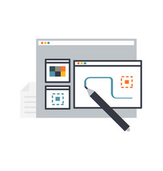 design process creation vector image