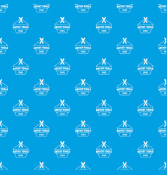 designer tool pattern seamless blue vector image