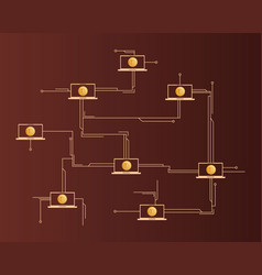 dogecoin technology circuit concept style vector image