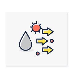 Droplet spread color icon vector