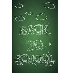 Education back to school text green chalkboard vector