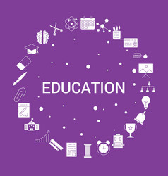 education icon set infographic template vector image
