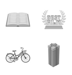Education transport and other monochrome icon in vector