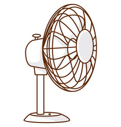 Electric fan in white color on white background vector