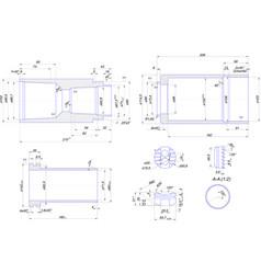 Engineering drawing of steel bush vector