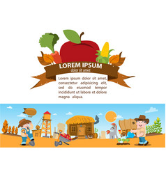 Farming farming wild west game background 19th vector
