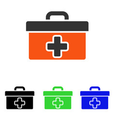 first aid toolbox flat icon vector image