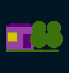 Flat icon house and garden vector