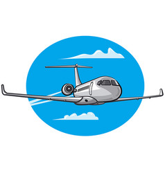 Flying air private jet vector