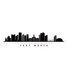 fort worth skyline horizontal banner vector image