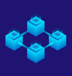 Futuristic teamwork icon isometric style vector