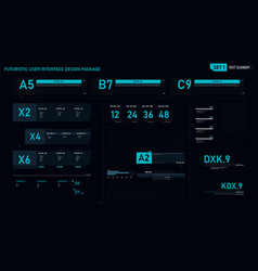 futuristic user interface design element set 01 vector image