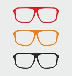 Glasses set with black yellow and red holder vector
