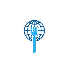globe food logo icon design vector image