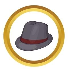 Gray hat icon vector