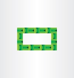 Green eco rectangle empty frame background vector