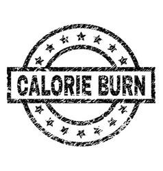 Grunge textured calorie burn stamp seal vector