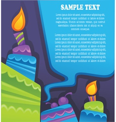 Image of birthday cakes candle and speech vector