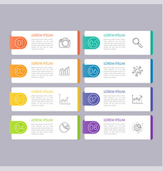 infographic banner with 8 option vector image