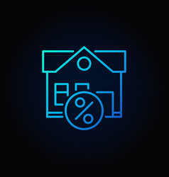 leasing property blue icon vector image