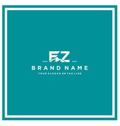 Letter fz mountain logo design vector