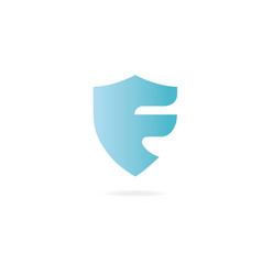 Letter j logo design template elements shield vector