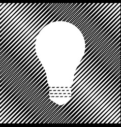 Light lamp sign icon hole in moire vector
