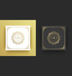 Luxury logo monogram crest template design vector