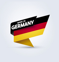 Made in germany flag vector